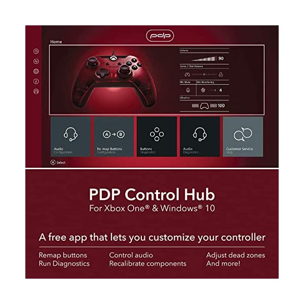 PDP 048-082-NA-RD Wired Controller for Xbox One, Xbox One X and Xbox One S, Crimson Red 7