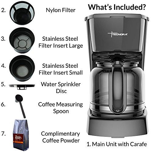 Tecnora Caffemio TCM 206 , 800-950 W, Drip Coffee Maker
