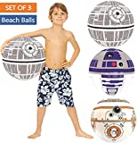 Ninostar Large Play Balls Set of 3 - Fun Indoor and Outdoor Gift - Can Use for Play/Room Decor/Party Decor/Pool Inflatable Water