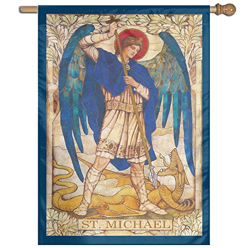 (Archangel Michael Welcome Garden Flag Yard Flag Family Flag 27