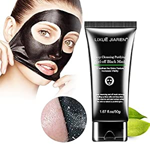 Blackhead Remover Black Mask - Charcoal Black Facial Clean Peel-off Mask Deep Cleansing Mask