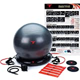 ThinkFit Core System Yoga Exercise Ball Resistance Band Core Sliders Resistance Loop Bands Poster and Pump Think Fit - Live Fit!