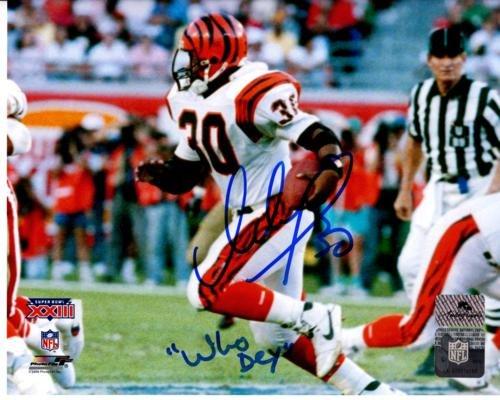 Ickey Woods Cincinnati Bengals - Ickey Woods Autographed Cincinnati Bengals (Super Bowl) 8x10 Photo w/