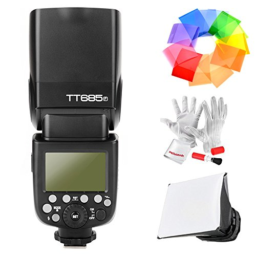 Godox TT685F 2.4G TTL Flash Speedlite for Fujifilm GN60 1/8000S HSS 0.1-2.s Recycle Time 230 Full Power Flashes 22 Steps of Power Output