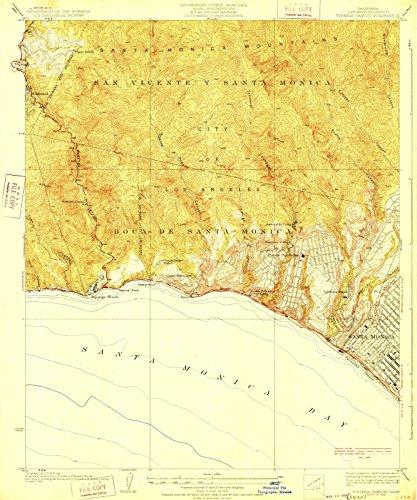 California Maps | 1928 Topanga Canyon, CA USGS Historical Topographic Map |Fine Art Cartography Reproduction - Topanga Canyon Of Map
