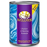 Wellness Complete Health Natural Canned Grain Free Wet Cat Food, Chicken & Herring Pate, 12.5-Ounce Can by Wellness Natural Pet Food