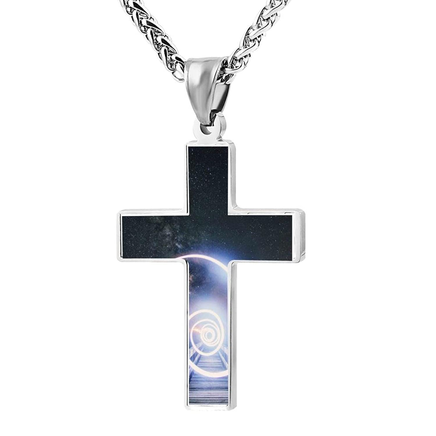 a56014a53 LUQeo Thunder Christianism Crucifix Necklace Cool God Jewelry Pendant