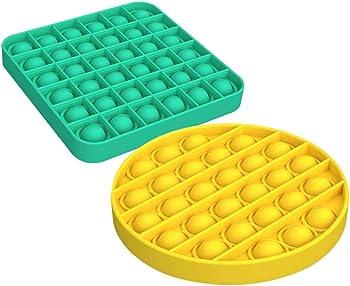 2-Pieces Tootrea Push Pop Bubble Fidget Sensory Toy