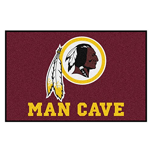 FANMATS 14386 NFL Washington Redskins Nylon Universal Man Cave Starter (Washington Redskins Nfl Starter)