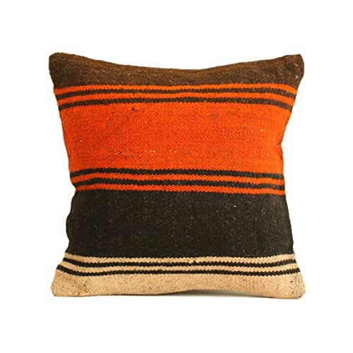 Amazon.com: Kilim Pillow Cover 16x16 Boho Pillow Southwest
