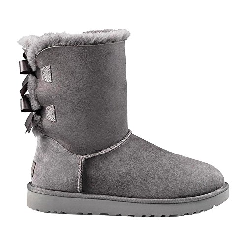 UGG Kids Girls' Bailey Bow (Toddler/Little, Grey, 7 M
