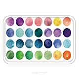Flannel Microfiber Non-slip Rubber Backing Soft Absorbent Doormat Mat Rug Carpet Watercolour Circle Textures Mega Useful Pack For You Perfect For Branding Greetings Websites 293729675 for Indoor/Outdo