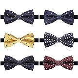 Kyпить AVANTMEN 6 PCS Adjustable Pre-tied Bow Tie Set for Men Ties in Gift Box Mixed Color Assorted Ties (Style J, 6 Pack) на Amazon.com