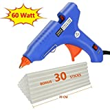 Philonext Hot Melt Glue Gun with 50 Pcs 190mm Glue Sticks, Melting Glue Gun Kit Flexible Trigger for DIY Small Craft Projects & Sealing and Quick Repairs - 60W