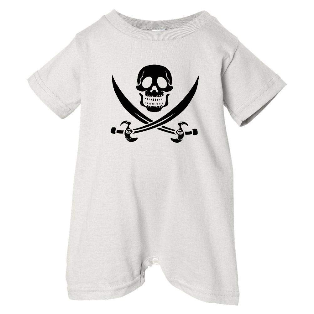 White, 12 Months Baby /& Toddler T-Shirt Romper Pirates /& Anchors Unisex Baby Skull /& Crossbones Black
