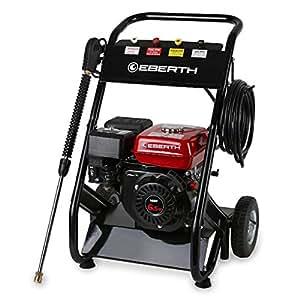 EBERTH 6,5 CV Limpiador de alta presión de gasolina con una presión de trabajo de hasta 210 bar