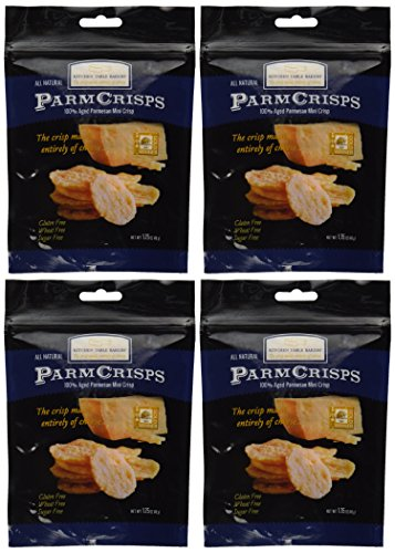 Mini Crisps - Aged Parmesan Gourmet Cheese Crisps 1.75 Oz. Bag By Kitchen Table Bakers Pack of 4 (Kitchen Bakers Table)