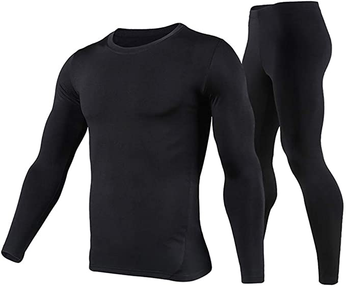 Microfiber Soft Fleece Lined Long Johns Winter Warm Base Layer Top /& Bottom TSLA Mens Thermal Underwear Set