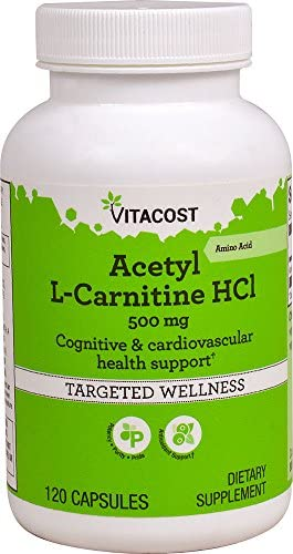 Vitacost Acetyl L-Carnitine HCl – 500 mg – 120 Capsules
