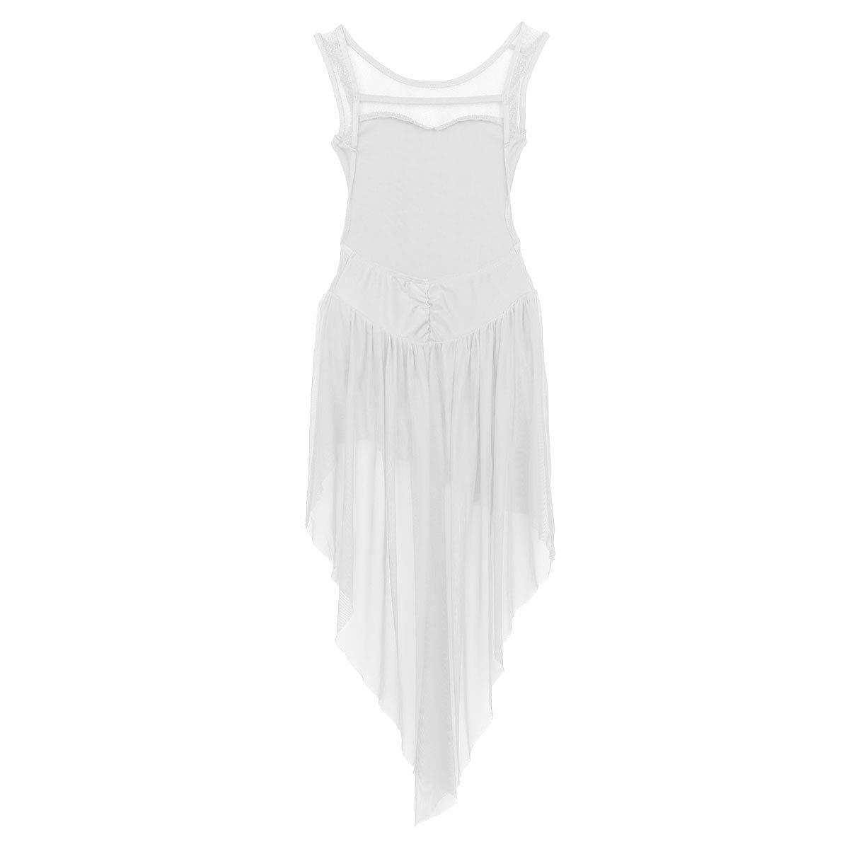 4a975ba5f2f8c CHICTRY Robe Danse Latine Fille Robe Danseuse Robe Danse de Salon Rumba  Zumba Salsa Robe de Ballet Robe Danse contemporaine Enfant 4-14 Ans   Amazon.fr  ...