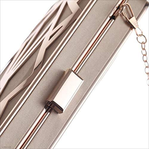 Pochette Pranzo In Sacchetto Piccola Metallo Borsa Rigida Da Forma A Con black Quadrata Donna Lylyss Black SUt1q