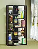 Coaster Casual Dark Cappuccino Interjecting Shelf Bookcase with Center Back Panel Review