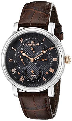 Thomas Earnshaw Men's ES-8048-02 Longcase Master Calendar Analog Display Japanese Quartz Brown Leather Watch
