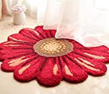 FZFZFZ carpet, European style Round living room carpet American style bedroom Bedside cloakroom Sunflower carpet Home Computer swivel chair mat Soft and comfortable