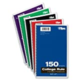 Wholesale CASE of 25 - Tops 3-subject College Ruled Notebooks-3-Subject Notebooks, Collg Ruled, 9-1/2''x6'', 150 Shts, Ast