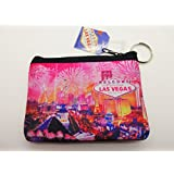 Las Vegas Souvenir Small Coin Purse (Pink / Multi) by LV Souvenirs