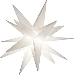 """Elf Logic Easy Assembly 18"""" Battery Timer Moravian Star - Hanging Outdoor Christmas Star Light - Use as Holiday Decoration, Porch Light (LED -Battery Timer, 18 Inch)"""