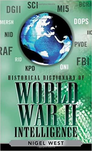 historical dictionary of world war ii intelligence west nigel