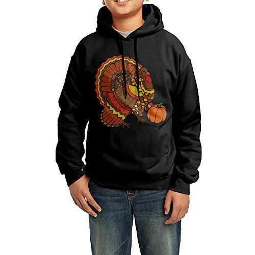 Funny Black Sweatshirts Happy Thanksgiving Sweatshirts For Youth ()