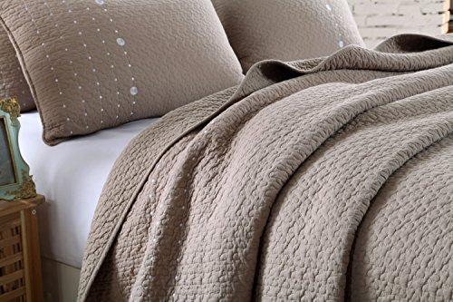 high quality contonting 100 cotton 3 piece reversible quilt set