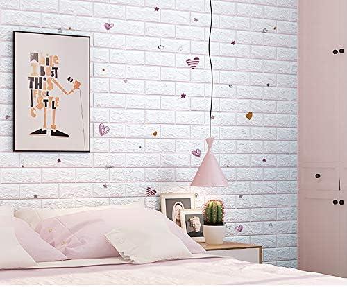 3D 壁紙 レンガ 防音シート 防水 壁紙 断熱 DIYクッション シール シート立体 壁用 壁紙 はがせる タイルシール ウォールステッカー 北欧 白 壁用 タイル