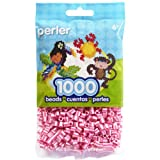 Perler Beads Bag, Pink Candy Stripe, 1000 Count