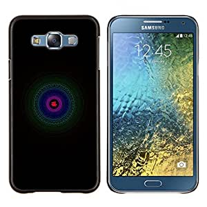 TECHCASE---Cubierta de la caja de protección para la piel dura ** Samsung Galaxy E7 E700 ** --Verde Azul Violeta