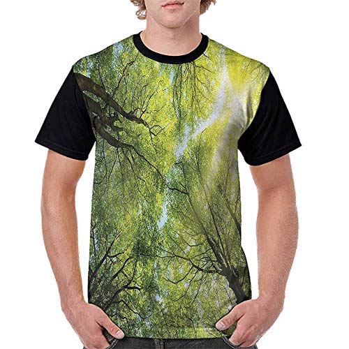 BlountDecor Trend t-Shirt,Romantic Beech Trees Fashion Personality Customization