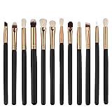12PCS Eye Brushes Set Eyeliner Eyeshadow Blending Pencil Brush Makeup Tools