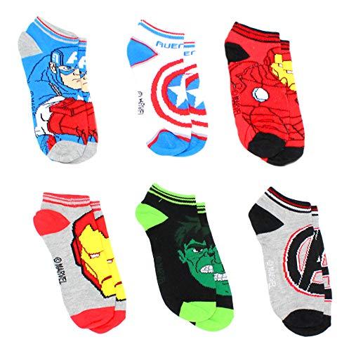 Marvel Avengers Boys' 6-Pack Athletic Socks Size 6-8 ()