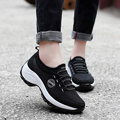 sho Running casual Shoes Sets Winter Foot Shoes Shoes Mother Increased And Casual Black Lazy Comfortable Of Autumn Shoes Sports Rocking 6dqrwSd