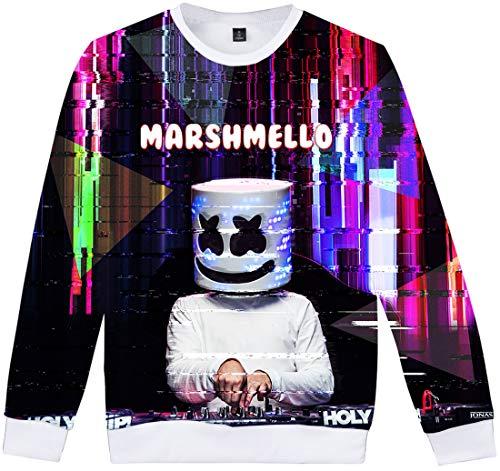 Homme Hip Logo Dj Hop Veste Baseball Flychen Marshmello shirts dd 3d De Sweat Impression Blousons Ad0Z4Rq
