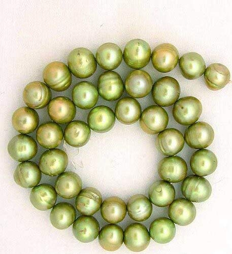 4 Giant 10-11mm Juicy Key Lime FW Pearls for Jewelry Making -