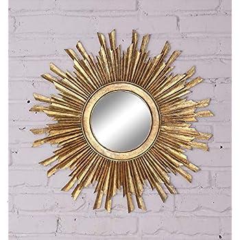 Creative Co-op DE4704 Gold Sunburst Mirror