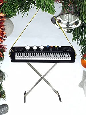 "4"" Electric Keyboard Musical Music Instrument Ornament Christmas Tree Decoration"