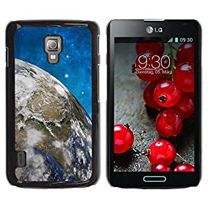 LECELL -- Funda protectora / Cubierta / Piel For LG Optimus L7 II P710 / L7X P714 -- Space Planet Galaxy Stars 58 --