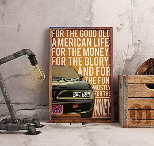 MugKD LLC Smokey and The Bandit 1977 Pontiac Firebird Trans Am Poster Alternative Poster 70s Poster Classic Movie Poster Trans Am Poster Bandit Cledus [No Framed] Poster Home Art Wall Posters (16x24)]()