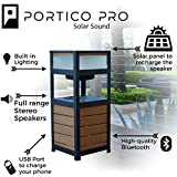 FRESHeTECH Portico Solar Sound Pro - Solar Powered Outdoor Bluetooth Speaker and Table Now with Charging Capabilities By