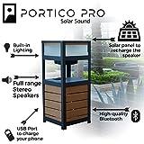 Altavoz y mesa Bluetooth con energía solar al aire libre - Portico Solar Sound Pro Altavoz con batería y carga USB por FRESHeTECH