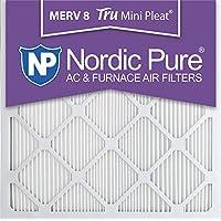 Nordic Pure 20x20x1M8MiniPleat-6 Mini Pleat MERV 8 AC Furnace Air Filters, 20-Inch x 20-Inch x 1-Inch, 6-Pack